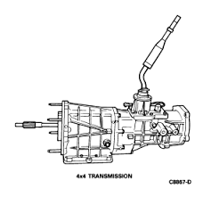 1992 ranger super cab 4x4 5 speed transmission linkage diagram graphic