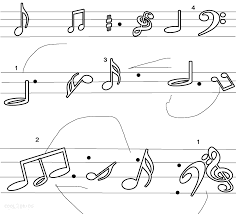 musical note coloring sheet music note color pages coloring pages