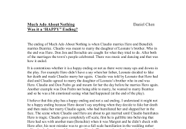 much ado about nothing is it a happy ending gcse english  document image preview