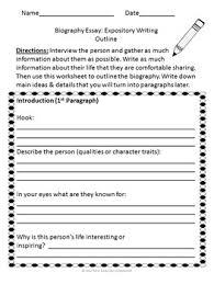 Biography Essay Personal Hero By Mrs Kearsleys Classroom Tpt