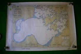 Ontario Nautical Charts Details About Ontario Big Traverse Bay 46 5x33 Vintage 1988 Nautical Chart Map