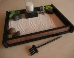 zen garden furniture. m05 medium desk or table top zen garden with asian deco print and candle furniture