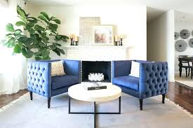modern blue accent chair dark blue velvet sofa with black and white pillows christopher knight home