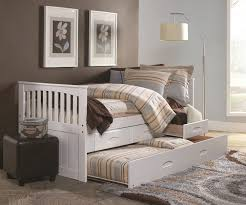 Cambridge White Captains Trundle Bed | Twin Size Bed Frames, day ...