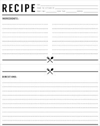 Recipe Blank Template Free Recipe Card Templates For Microsoft Word Blank Recipe Card