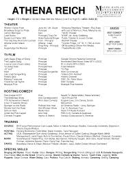 How To Write An Acting Resume Templates Musical Th Sevte