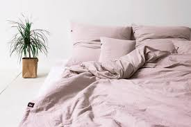 likeable pure cotton duvet cover dusty pink hop design on