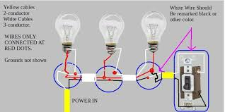 recessed lights installed switch works but bulbs are dim here is another more complicated way