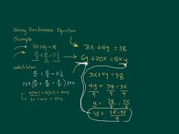 solving simultaneous equations using substitution with rarional expressions fractions