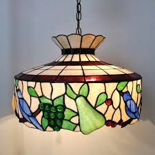 antique stained glass fruit chandelier design ideas