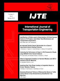 International Journal of Transportation Engineering - Articles List