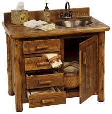 cabinets uk cabis: charming inspiration rustic bathroom sinks and vanities cabin undermount for cabins style with overflow vessel made