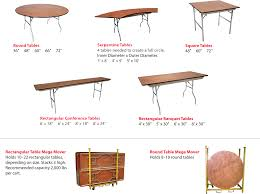 Round Table Seating Capacity Event Tables Event Equipment Sales