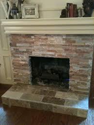 tile over brick fireplace remodel