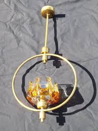 Brass Stem Ring Lamp Fitting With Glass Bowl In Bridgwater Somerset