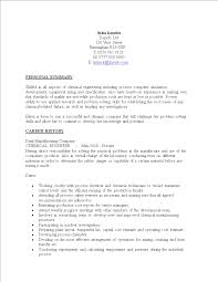 Free Chemical Engineering Resume Sample Templates At