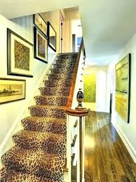 animal print runner table rug gorgeous leopard stair pr