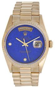 men s rolex president day date watch 18238 lapis dial demesy com men s rolex president day date watch 18238 lapis dial