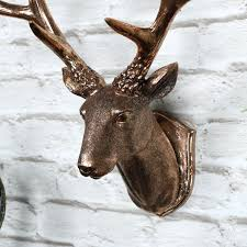real deer head wall mount copper wall mounted stag head decoration