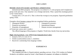 A Sample Of A Resume Free Resume Examples By Industry