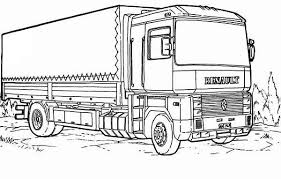 Small Picture Renault Semi Truck Coloring Page Download Print Online