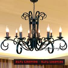 10 heads arm rustic wrought iron chandelier e14 candle black vintage antique home chandeliers for livingroom
