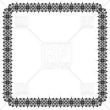 black ornate frame vector image vector ilration of borders and frames robertosch 2274