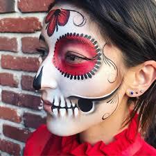 sugar skull face paint easy 2
