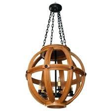 wood sphere chandelier bronze design large carved oak lighting ceiling br wood sphere chandelier