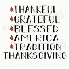 Word Thanksgiving Thanksgiving Word List 12x12 Stencil