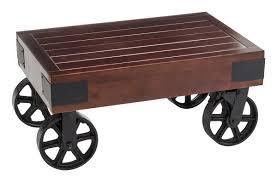 vintage warehouse display cart for highlighting merchandise