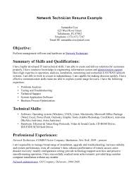 network technician resume