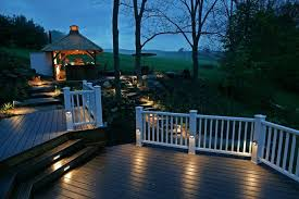 decking patio small lighting outdoor fence home depot garden fencing fixtures led