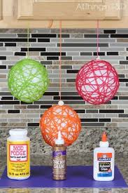 Make Decorative String Balls Impressive How To Make Yarn Ball Ornaments To Do Pinterest Yarn Ball