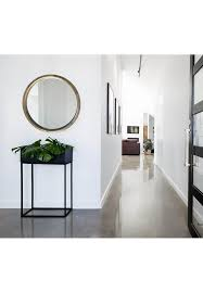 inch thick wooden frame wall mirror