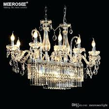glass drop chandelier gorgeous rectangle crystal chandelier light fixture lights glass chandelier lighting re hanging dining room drop lamp flush mount