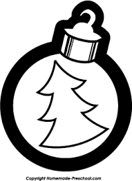 christmas ornament clipart black and white. Christmas Ornament Black And White Clipart To