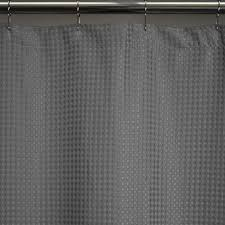 heavy weight fabric shower curtains extra long 72x78 waffle weave durable washable
