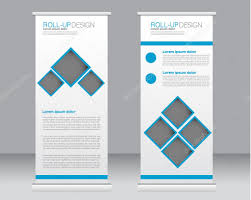 template for advertisement roll up banner stand template abstract background for design
