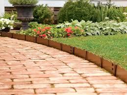 wood garden edging red brick walk path with wooden wood garden edging wood garden edging