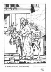 Kleurplaat Barmhartige Samaritaan