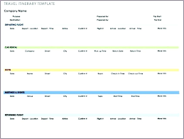 Word Travel Itinerary Template Travel Timeline Template Simplish Info