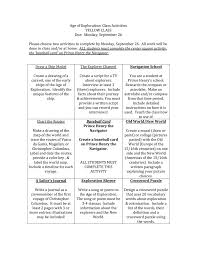 Early Explorers Chart Age Of Exploration Class Activities