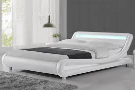 white bed frame. Exellent Bed Madrid LED Lights Modern Designer White Bed Frame  SingleDoubleKing Size   On O
