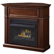 pleasant hearth 42 in dual burner vent free corner liquid propane or