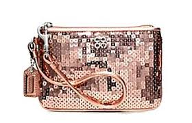 Not Sure If You Should Get Coach Occasion Sequin Small Wristlet 46563  Rosegold Check and Find An Affordable Deal of Coach Occasion Sequin Small  Wristlet ...