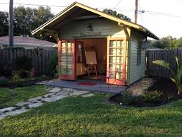 backyard shed built as art studio