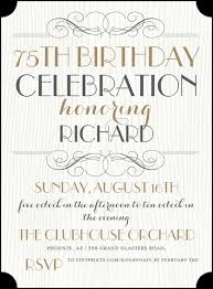 Invitation Words For Birthday Party The Best 75th Birthday Invitations And Party Invitation