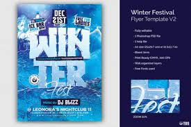 Winter Festival Flyer Template Graphic By Thatsdesignstore ...
