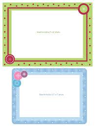 frame template printable